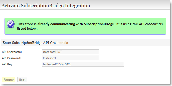 SubscriptionBridge activation in ProductCart